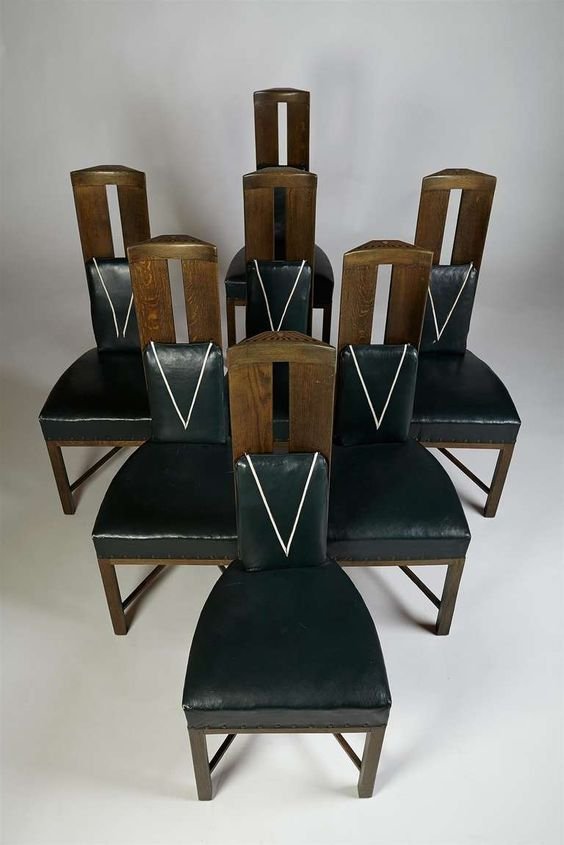 Set Of Dining Chairs Designed By Eliel Saarinen, Finland. Circa 1917. | From a unique collection of antique and modern chairs at http://www.1stdibs.com/furniture/seating/chairs/