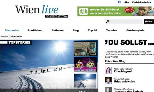 wienlive.at / Startseite © echonet communication GmbH