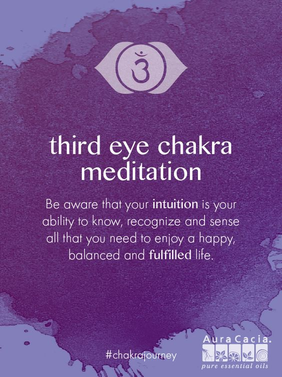 Do you listen to and follow your intuition? Listen to this full, guided meditation for the Third Eye Chakra. #chakrajourney