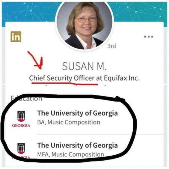 EQUIFAX PUT A MUSIC MAJOR SUSAN MAULDIN AS CHIEF INFORMATION - chief information security officer sample resume