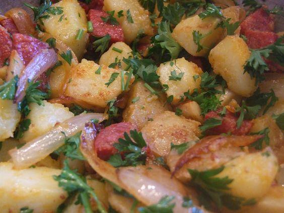Spanish Chorizo and Potato Tapas