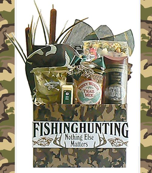 Hunting Theme Gifts Basket - Hunting Themed Gift Baskets