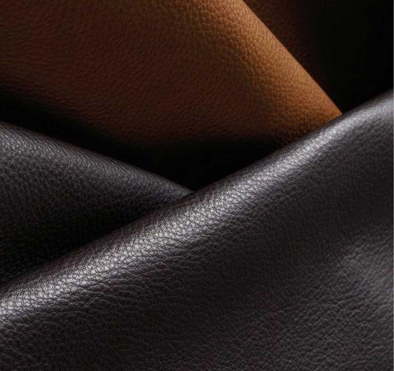 braunes, schwarzes Leder