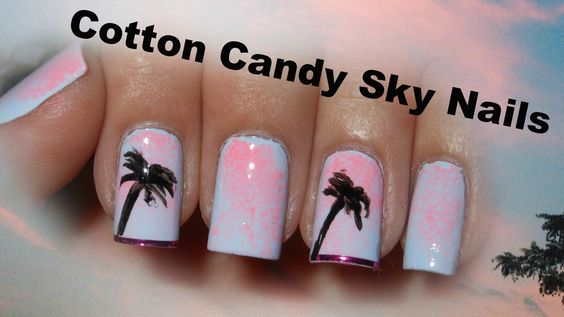 How To: Cotton Candy Sky Nails