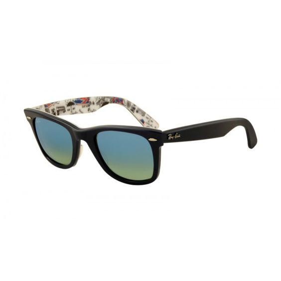cheap ray ban london  ray ban rb2140 original wayfarer top dark blue texture london/black green
