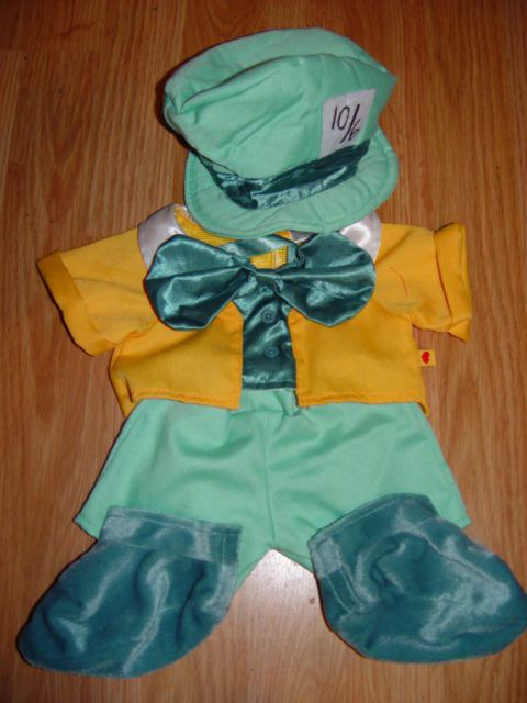 Build a Bear Clothing Clothes Outfit Disney Alice in Wonderland Mad Hatter