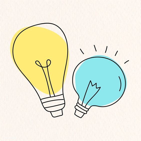 Creative light bulb doodle on beige background vector collection | free image by rawpixel.com / marinemynt