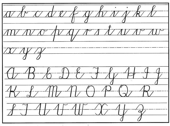 Number Names Worksheets how to write abc in cursive : Pinterest • The world's catalog of ideas