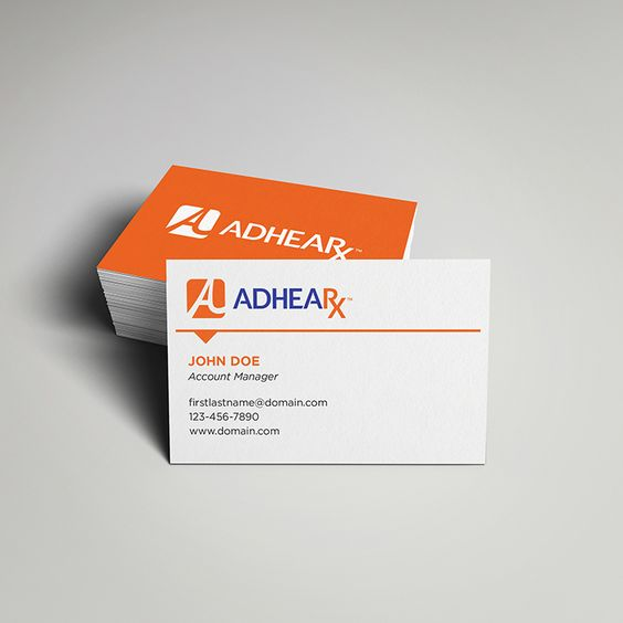 Business card for Adhearx. Designed by @seankinberger