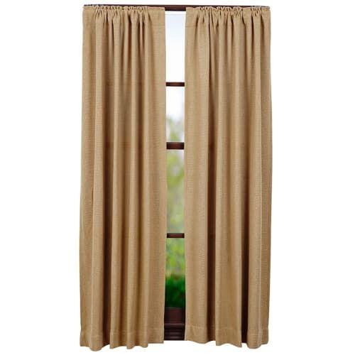 Burlap Natural Short Curtain Panels 63 X 36 Natural Curtains