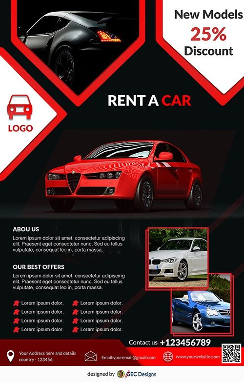 Contact Support Free Flyer Templates Car Advertising Design Graphic Design Flyer