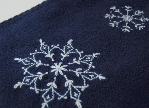free snowflake embroidery pattern here