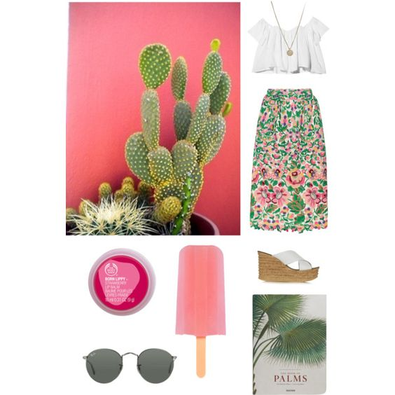 summer love by taraleedelport on Polyvore featuring polyvore fashion style Stone_Cold_Fox Valentino Topshop LowLuv Ray-Ban The Body Shop Taschen