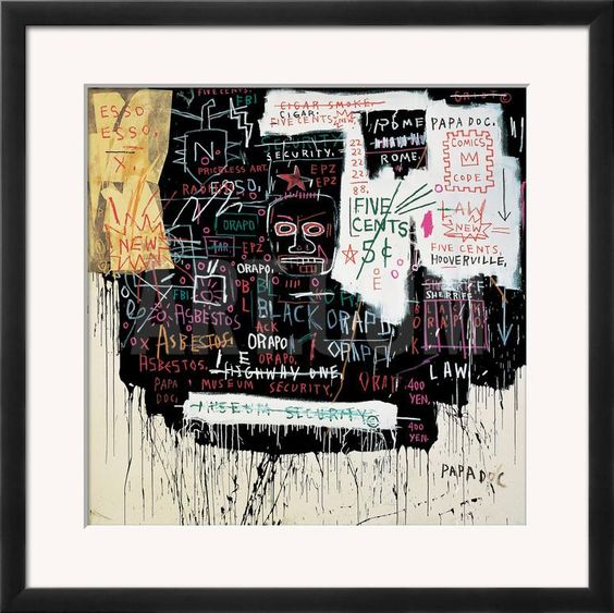 Museum Security (Broadway Meltdown), 1983 Framed Giclee Print by Jean-Michel Basquiat at Art.com