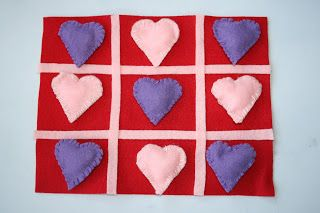 Valentine's Day Felt Tic Tac Toe Game Craft