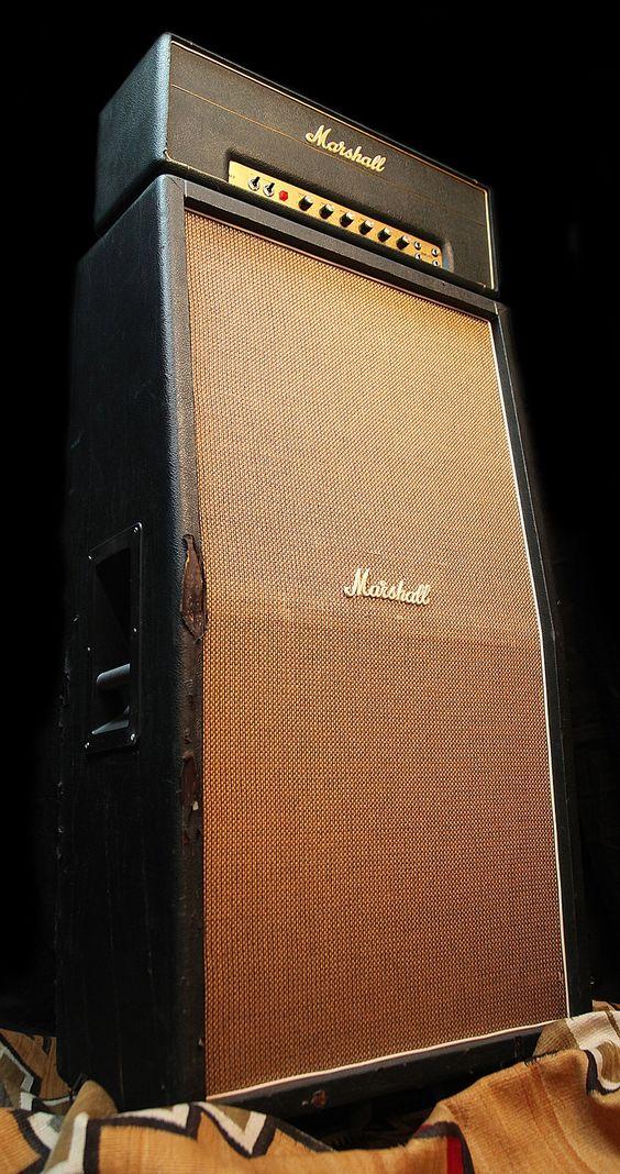 A rare 1969 50-watt Marshall 1986 JMP with its 8x10 cabinet. http ...