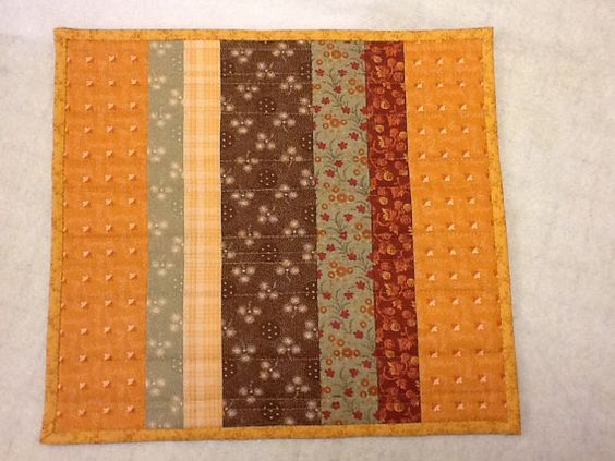 Autumn Thanksgiving Table Mat Candle Mat by Clothstitched on Etsy