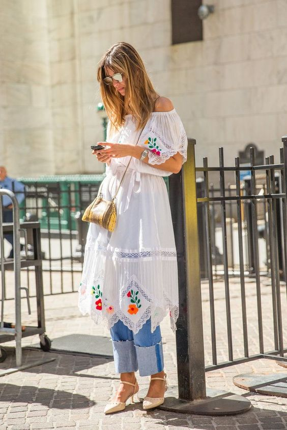 Boho embroidery is all we need right now.