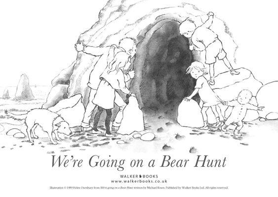 Coloring page use with we 39 re going on a bear hunt five for Going on a bear hunt coloring pages