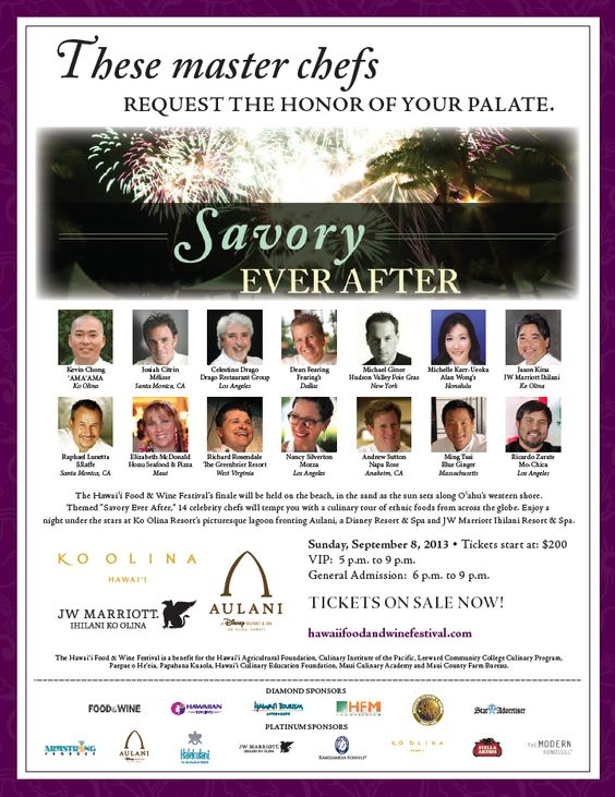 #HFWF13 http://www.koolina.com/events/hawaii-food-wine-festival