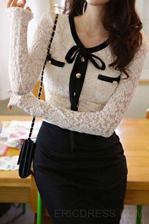 falda tubo larga blusa de encaje   buscar con google