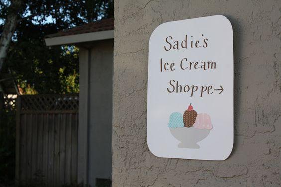 sadie's ice cream shoppe birthday
