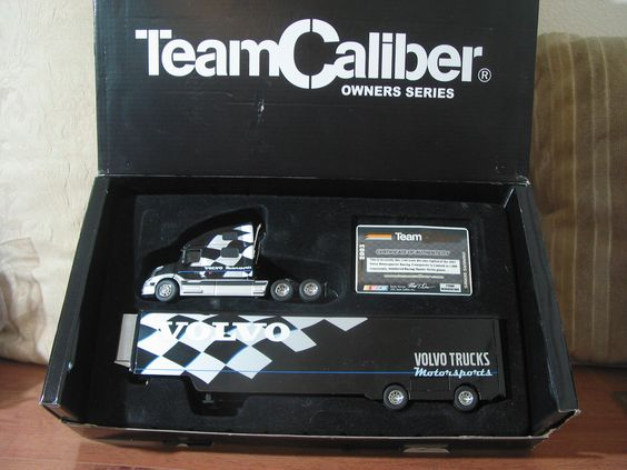TEAM CALIBER Volvo Nascar 2003 Hauler Truck Owners Series #215 Of 1008 Produced   https://ajunkeeshoppe.blogspot.com/