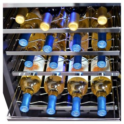 NewAir 28-Bottle Thermoelectric Wine Refrigerator Stainless Home Office Bar