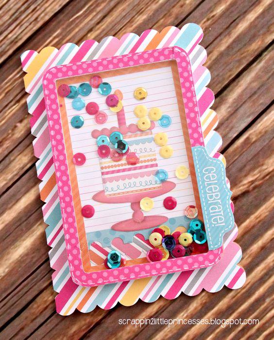 Sugar Shoppe: Sequin Shaker card by Candace Zentner on the Doodlebug Design Blog