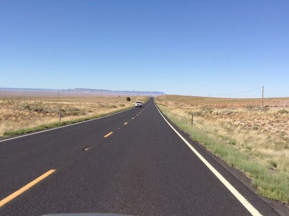 Never seen a road so long and straight. It's goes on for miles. Arizona