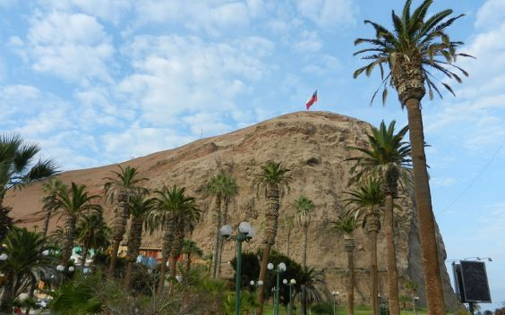 Arica is in Northern Chile and offers warm waters