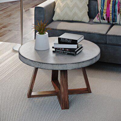 Williston Forge Balch Coffee Table Wayfair In 2020 Concrete Coffee Table Coffee Table Coffee Table Design