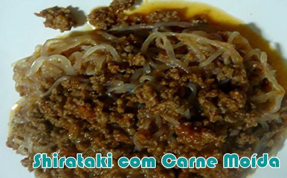 Shirataki com carne moída e tofu - Receitas fit #receitas #fitness #dieta #academia #receitaslight