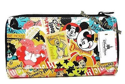 Disney Theme Parks Mickey Mouse & Friends Collage Pattern Wallet (NEW) Minnie