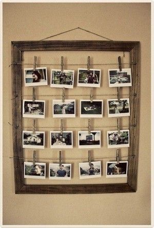 Cuadro vintage con fotos, encuentra más DIY para decorar en http://www.1001consejos.com/diy-para-decorar/