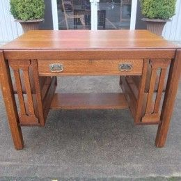 This is almost like our desk!! u003c3 Antiques By Design - Mission Oak