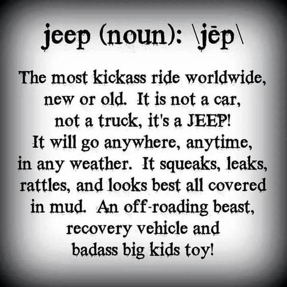 Jeep (noun): jēp