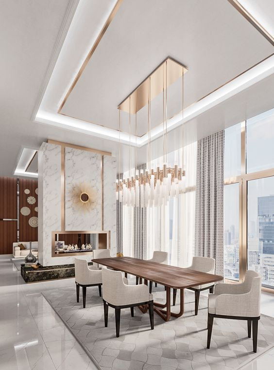 Jaw Dropping Dining Room Luxury Ideas You Have To Steal In 2020 Dining Room Design Modern Luxury Dining Room Art Deco Interior Living Room