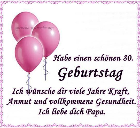 Geburtstagswunsche Papa Opa Beautiful 80 Geburtstagswunsche And