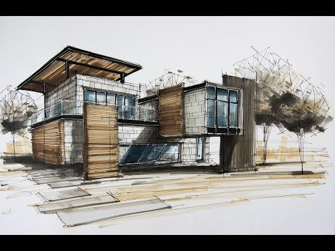 Architecture Sketching House 8 Youtube Concept Architecture Architecture Drawing Plan Layout Architecture
