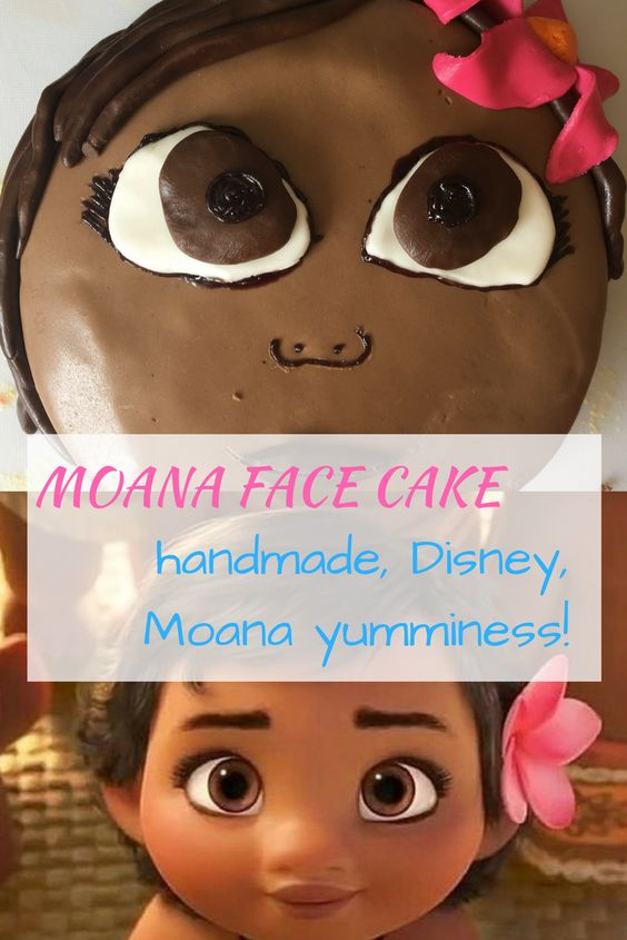 Handmade Moana face cake! Pretty good resemblance and amazing flower in the hair!
