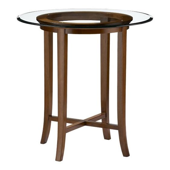 Halo Cognac 42 High Dining Table With 42 Glass Top In Dining Tabl