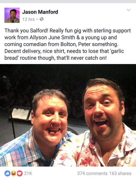 Watch: Peter Kay Does Brilliant Surprise Appearance At Jason Manford Gig Goto Vod24hr.com Now