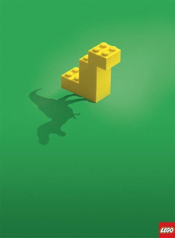 publicité LEGO dinosaure
