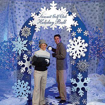 The Christmas Christmas Gifts And Snowflake Decorations