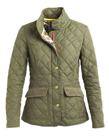 Womens Green Quilted Jacket