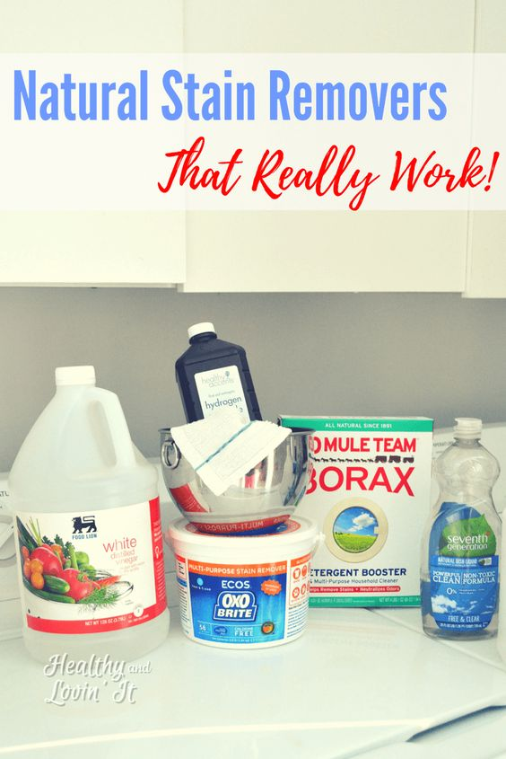 Natural Stain Removers For Laundry With Images Natural Stain