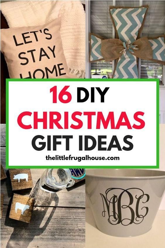 16 Diy Christmas Gift Ideas The Little Frugal House In 2020 Diy Gifts Cheap Creative Diy Gifts Diy Christmas Gifts