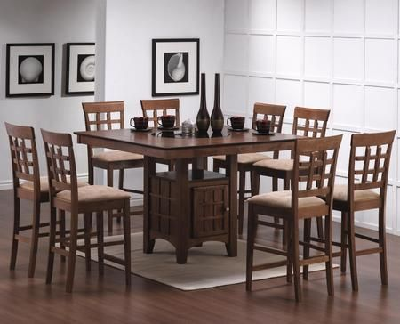 100438set19 Mix Match 5 Pc Counter Height Dining Set Table 4