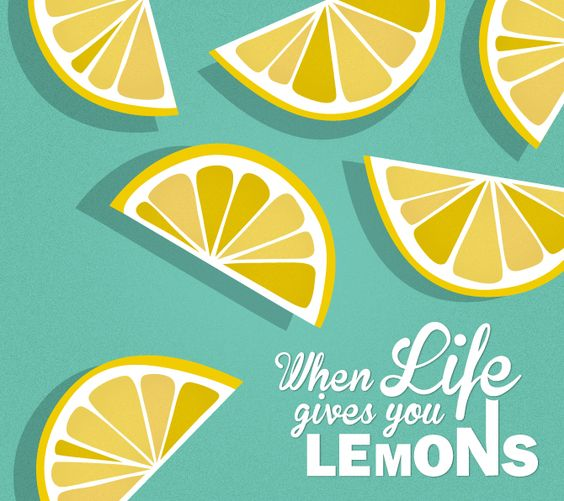 lemon illustration - when life gives you lemons: